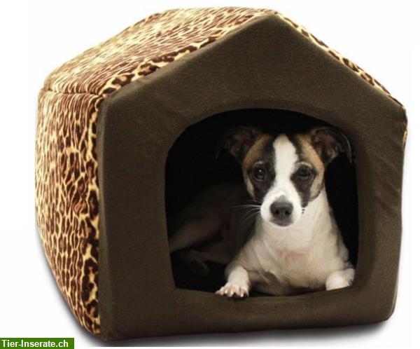 hundehaus hundebett hundeh tte aus stoff tierinserat. Black Bedroom Furniture Sets. Home Design Ideas