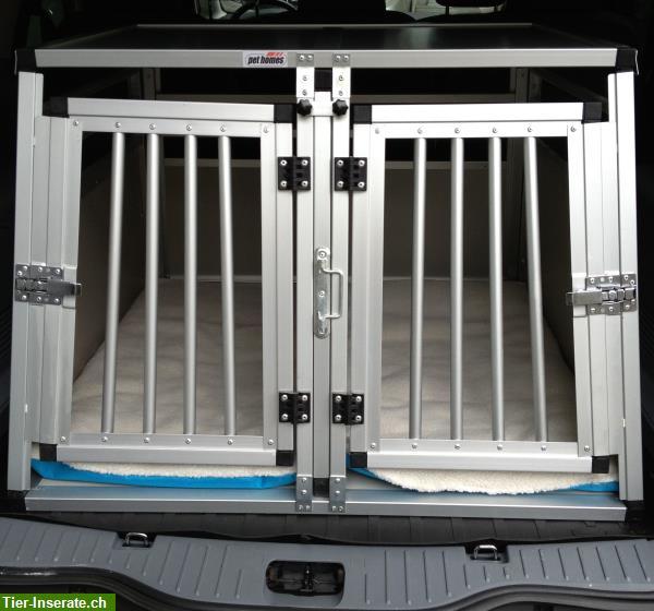 fabrikneu 5 versch grosse hunde doppelbox en inkl. Black Bedroom Furniture Sets. Home Design Ideas