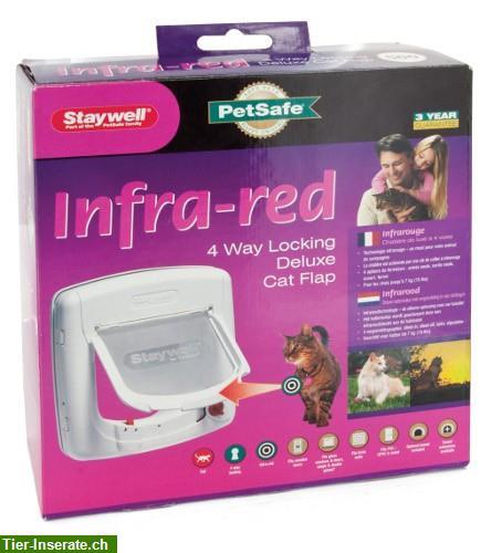 neue staywell infrarot katzenklappe zu verkaufen tierinserat 176058. Black Bedroom Furniture Sets. Home Design Ideas
