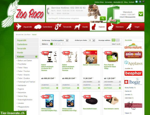 zoohandlung online shop