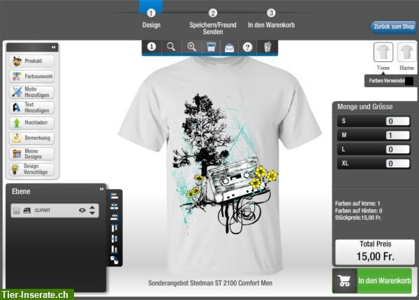 wholesale dealer 83c4d e32b8 Gestalte Dein eigenes T-Shirt mit eigenen Texten und Motiven ...